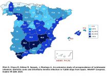 Mapa prevalencia Leishmania infantum 2021